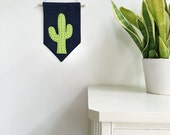 Cactus felt banner *LIME*, felt banner, wall banner, pennant, wall decor, wall hanging, nursery decor, cactus decor