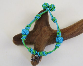Korean Love Maedeup Bracelet - Turquoise and Chartreuse #1036