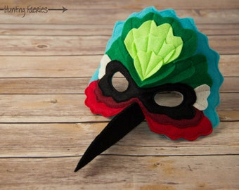 Amanda-Kate the Hummingbird Mask Costume for pretend play