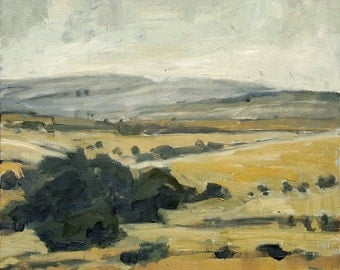 Those Bodega Bay Hills | Original Landscape Oil Painting | 10 x 10