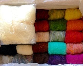 Super Duper Needle Felting Kit - Starter Kit - Make your own Felt crafts