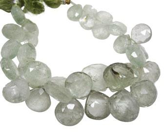 Green Amethyst Beads, Green Amethyst, Green Amethyst Briolettes, Prasiolite Beads, SKU 4345A