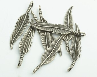 """100 Feather Charms, 35mm"""" , 3D , 2803AS"""