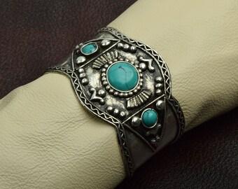 Southwestern Style Cuff  Bracelet , J849TQ