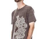 CLEARANCE SALE Henna T-Shirt Design American Apparel Coffee Tri-Blend t-shirt, Men's t-shirt, Unisex t-shirt, Mens graphic tee, Gift for Him