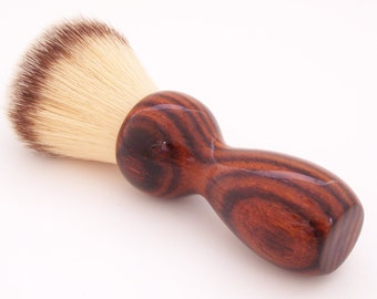 Cocobolo Wood 22mm Modern Synthetic Hair Shaving Brush Handle (Handmade in USA)C1 - Retirement Gift - Executive Gift - Gift for Him