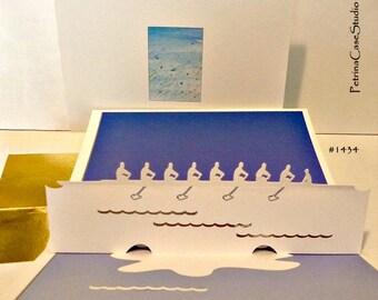 Rowing Crew Pop-Up Card - Item 1434