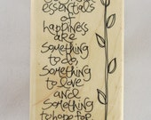 Chalmers Quote Stampin Up! Rubber Stamp #RS118