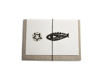 100% Recycled Mini Card- Fish and Star