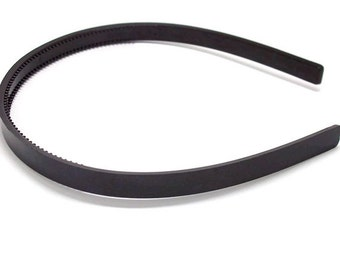50 Black Plastic Headband Blanks - with Teeth - 10mm (3/8 inch)