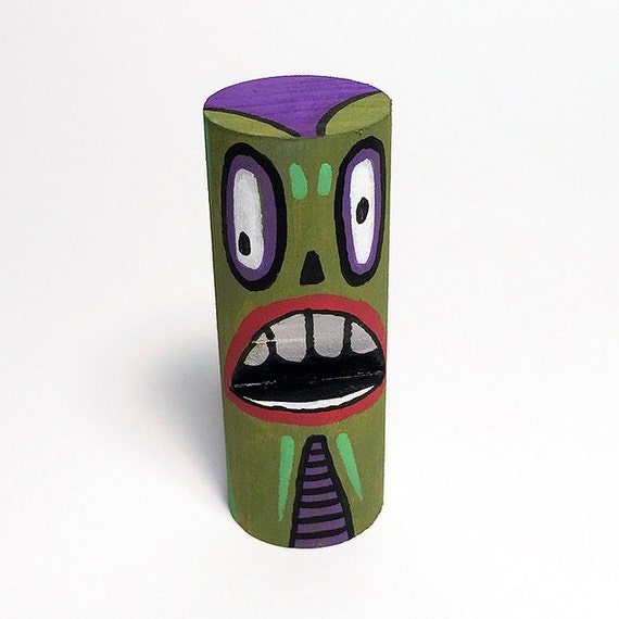 Funk Totem Part No. 341 - Original Mixed Media Block - Vol. 14