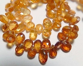 Rare - Specolite Gemstone, Faceted Pear Briolette, 5mm, Semi Precious Gemstone. Packet of 4 Briolettes. (75sp)