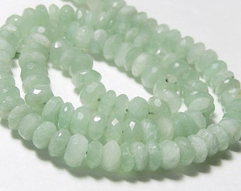 Green KYANITE Gemstone Rondelle - Faceted Rondelle, 6.5mm. Semi Precious Gemstone. Strand Your Choice. (jky)