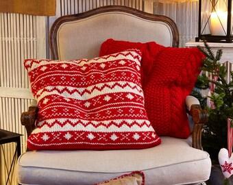 Knitting Pattern Christmas Cushion : Nordic cushions Etsy