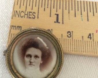 Photo Pin, Antique French, Vintage, Brooch, jewelry, wedding, engagement, birthday, gift