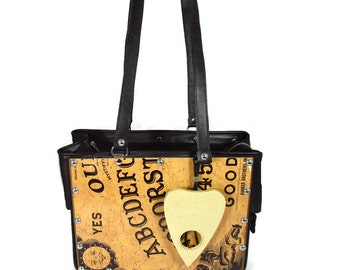 Vintage William Fuld Ouija Game Board Recycled Handbag