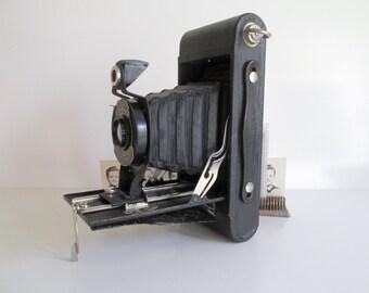 Vintage Kodak Hawkeye Folding Camera Eastman Kodak Company Bellows Camera Photography