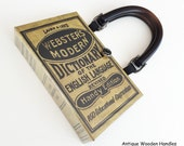 Webster's Dictionary Book Purse - Dictionary Book Cover Handbag - English Teacher Gift - Modern Dictionary Book Clutch - Crossword Puzzle