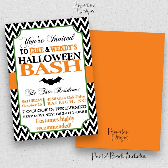 Halloween Invitations | Halloween Party Invitation | Halloween Party | Adult Halloween Invitation | Costume Party | Dinner Party | {H02}