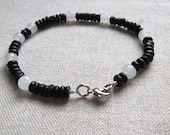 Physics Jewelry - Speed of Light Bracelet - Black White Bracelet - Physics Science Teacher Professor Jewelry
