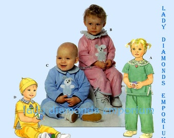 503 Simplicity 8819 Baby Boy & Girl Knit Tops Pants Hat size NB S M  L (7 to 24 lb) Infants Clothes Sewing Pattern Uncut Factory Folded