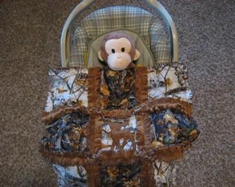 Real Tree  Camoflauge Deer Baby Boy Rag Quilt Blanket 22x22