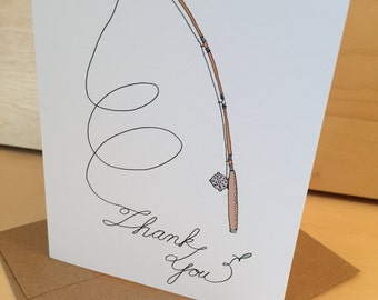 Fly Fishing Thank You Card