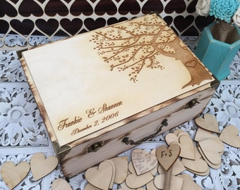 BEST SELLER / Wedding guest book , tree guest book , wedding box , rustic wedding guest book alternative , wedding tree
