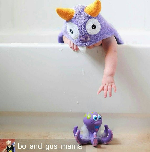 Infant Little Monster hooded towel