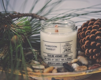 Fangorn Forest crackling woodwick candle