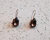Vintage Topaz Teardrop Earrings