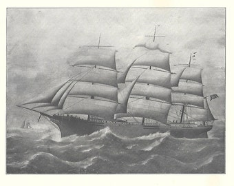Print of the Sailing Ship Glory of the Seas, built in 1869