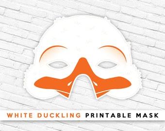 White Duckling Printable Mask | White Duck Mask | Spring Easter Mask | Mask