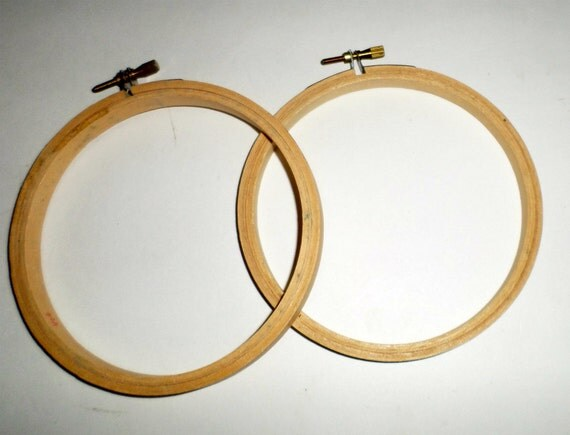 Inch wood hoops embroidery stitchery by carriesattic
