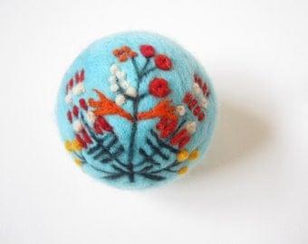 Felted Ornament,Christmas Decoration,Nursery Ornament,Needle felted decoration,Ethno Folk Motif