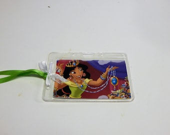 Luggage Bag Tag ID Holder Disney Aladdin and Jasmine