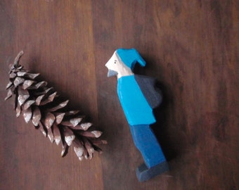 jack frost visits  -waldorf wood doll