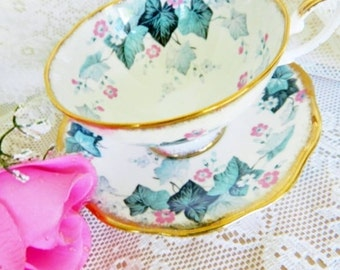 Vintage Royal Standard Teacup, Royal Standard, Ivy Tea Cup,  Ivy Teacup, Pink Floral Teacup,  no 3