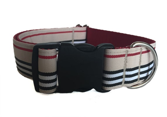 "Preppy Striped Martingale Collar - 1.5"" Wide Martingale Collar"