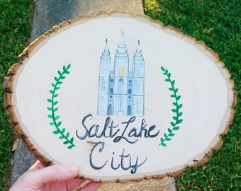 CUSTOM temple painting, hand-painted temple art, LDS temple, Mormon temple