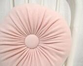 Light Pink Cashmere Round Throw Pillow Accent Decorative Pillow Sofa Cushion Designer Pillows Petite Lumbar Pillow Livingroom Pillows 938