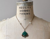 Chalcedon necklace | glass 1930s necklace | vintage 30s jewelry