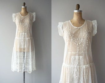 Esprit Doux dress | vintage 1920s dress | sheer net 20s dress