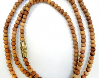"18"" Sandalwood 3mm Bead Necklace"