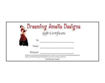 Dreaming Amelia Designs Gift Certificate - 20 Dollars