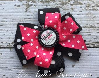 I am so fabulous I cry glitter pinwheel bow