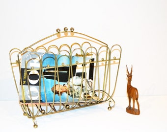 Vintage Magazine Rack Metal