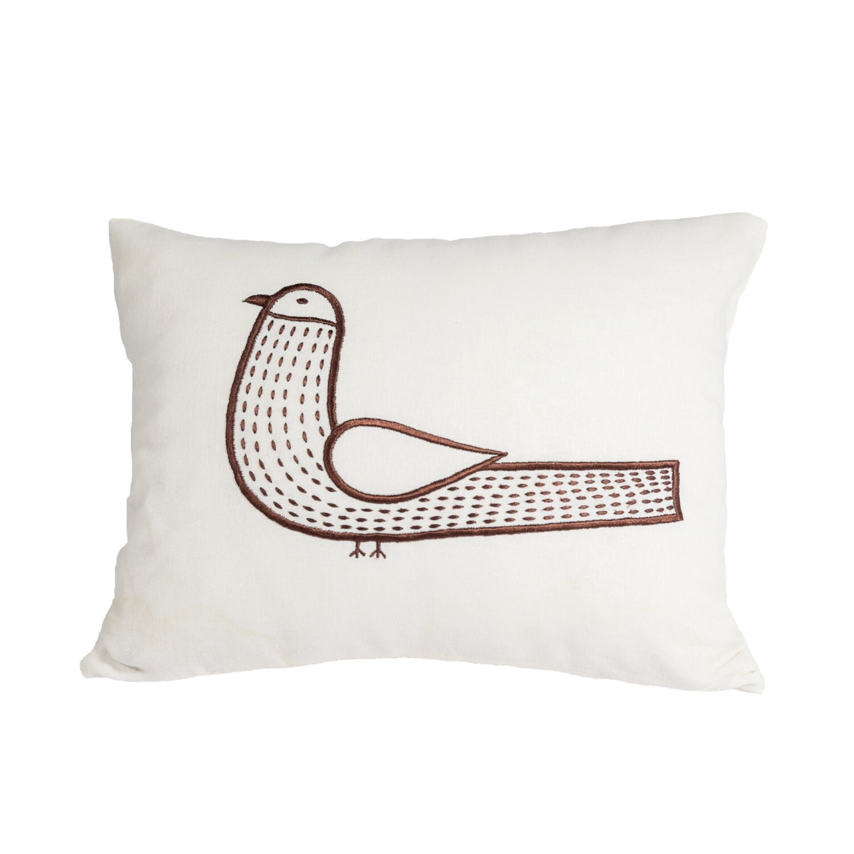 Decorative Pillows With Birds : Bird Lumbar Pillow Cover Throw Pillow Bird Cushion Cover