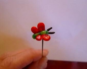 Fairy garden, micro miniature, fairy garden accessory, tiny red butterfly, fairy garden supply, terrarium accessories, miniature MTO