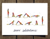 Snow Salutations, 8-PACK Holiday Card (Blank Inside)